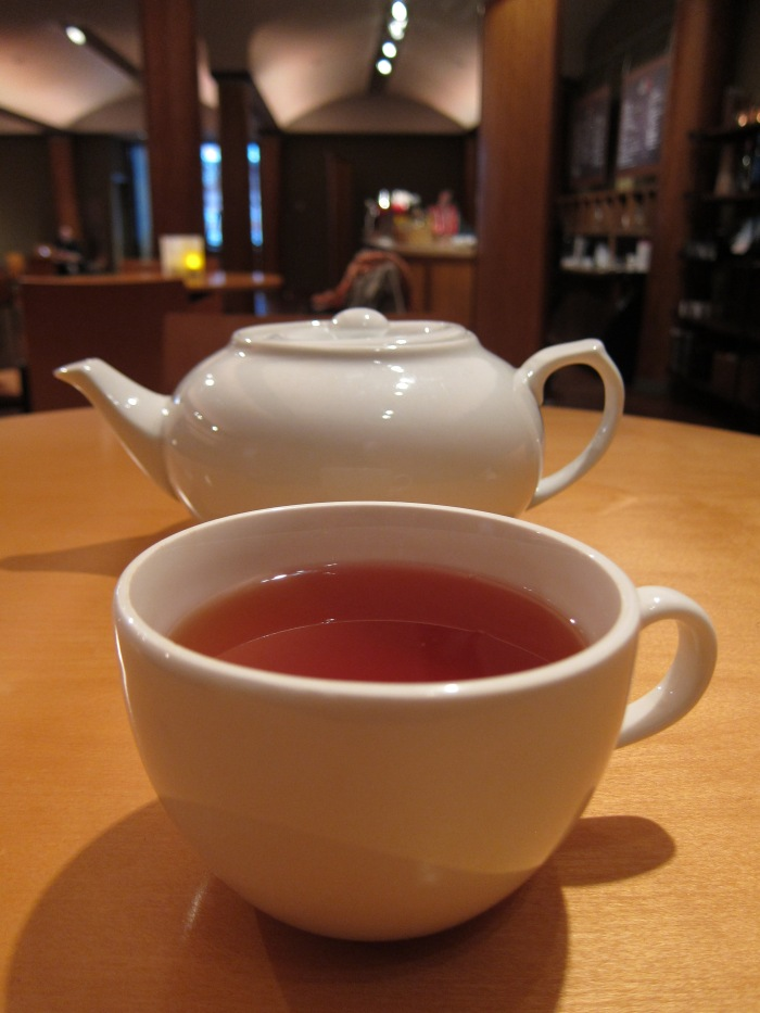 Having an Assam tea at Cafe Serai, Rubin Museum of Art.