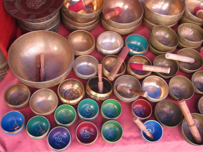"Tibetan ""singing"" meditation bowls."