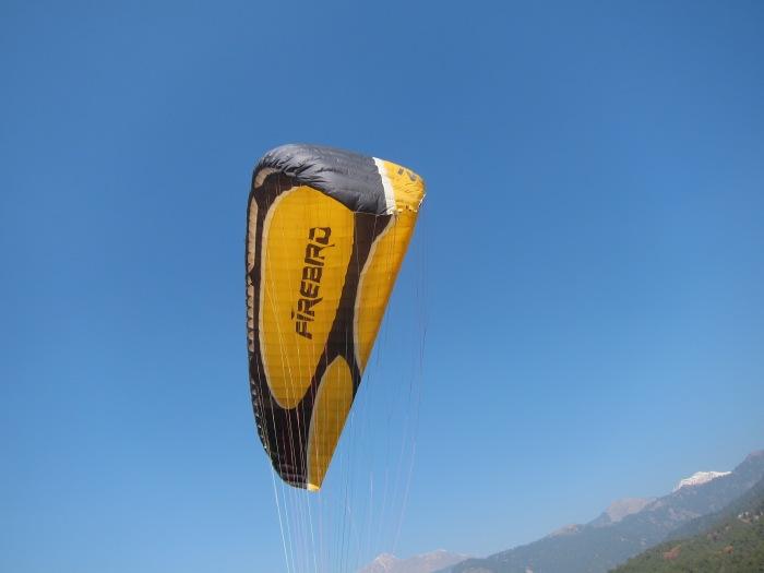Paraglider landing site, Bir.
