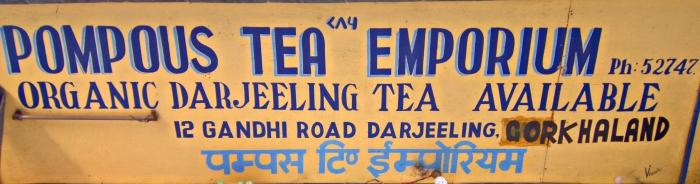 A very bold name for a tea shop!
