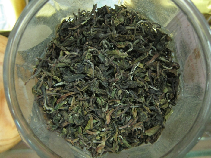 "Pussimbing Estate ""certified bio-organic"" first flush tea."