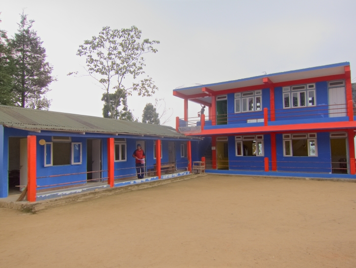 Hannah Memorial Academy. Workers are sprucing up the school with a new coat of paint.