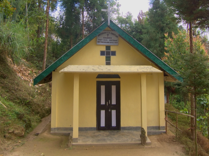 Church on Dooteriah Tea Estate.