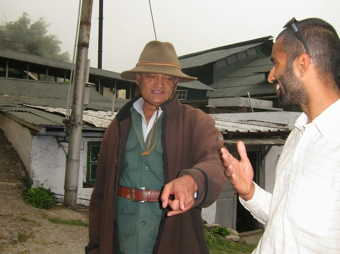 Rajah Banerjee chatting with Raj Vable, Founder of Young Mountain Tea.