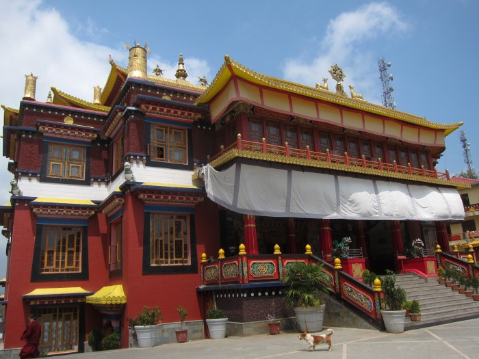 The Bokar Tibetan Monastery, just up the hill from the Glenmore International School. Zen and tea are good friends.
