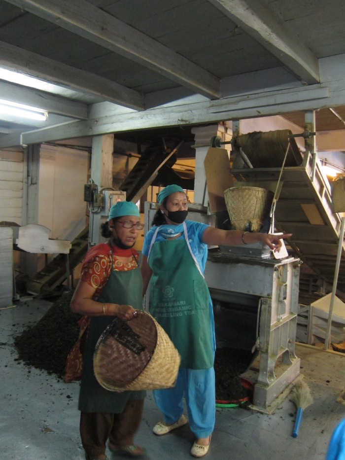 Ladies working hard to make our tea.