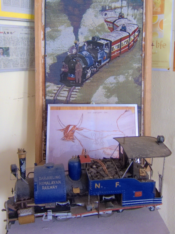 Model of DHR locomotive in the offices of the Makaibari Tea Estate.