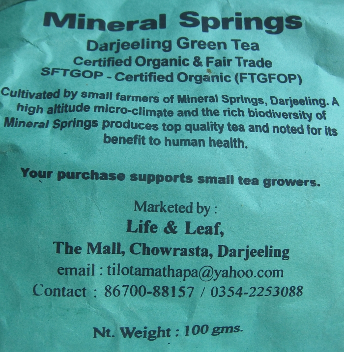 I bought some tea from the Life & Leaf Fair Trade Shop.
